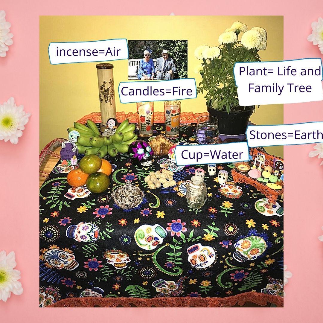 ancestor altar elements