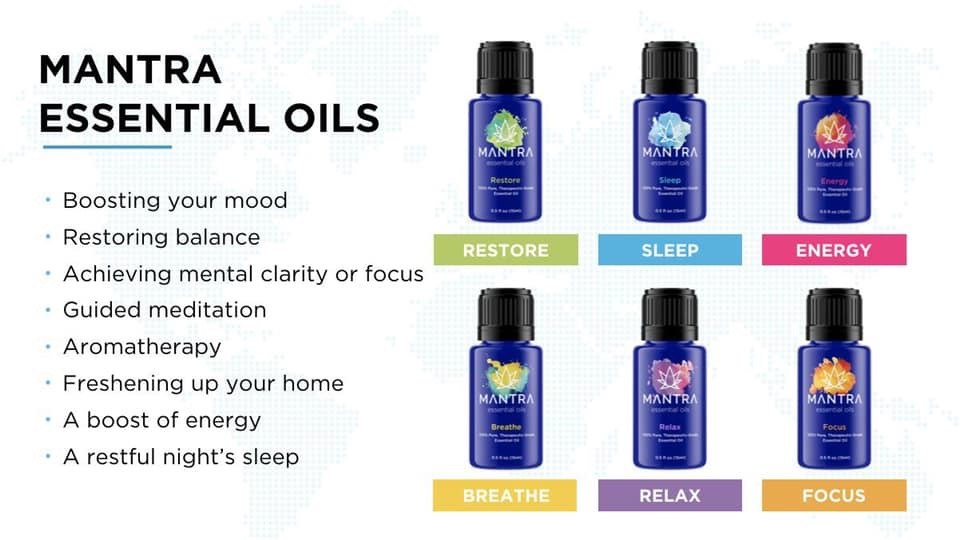 essential oils for chakras mantra bottles